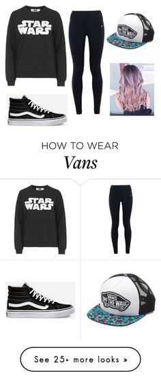 """""""The lazy hipster"""" by emmamarino1 on Polyvore featuring Topshop, NIKE, Vans, women's clothing, women, female, woman, misses and juniors"""