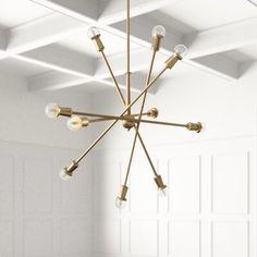 Living Room Lighting, Home Lighting, Ceiling Fan, Ceiling Lights, Elegant Chandeliers, Kitchen Family Rooms, Elegant Dining Room, Sputnik Chandelier, Light Bulb