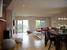 Creative Seating for Living Room..looks like huge boulders, I like this room idea a lot