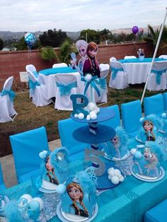 Disney Frozen Birthday Party Ideas | Photo 7 of 27 Could make the centerpiece
