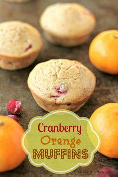 Cranberry Orange Muffins {Vegan} // herbivoretriathlete.com #vegan #baking