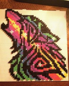 #project #perlerbeads #perlerbeadcreations #perlerart #perlerbeadsart #perlerbead #neon #easy #perler #beads #art #artwork #pixelart #pixel #inspired #hamabeads #beadart #colorful #artistic #tribal #wolf #tribalwolf #animal #inspired #stars #galaxy #universe #endless
