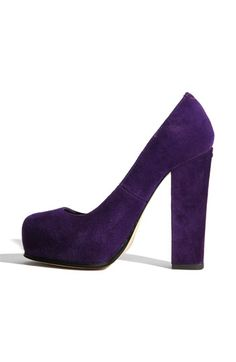 Purple Chunky Heel