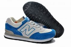 Joes New Balance M574 Blue Grey Mens Shoes