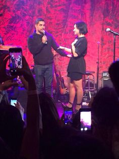 Demi Lovato and Wilmer at The Troubadour in LA for the First Annual Lovato Scholarship benefit - March 18th