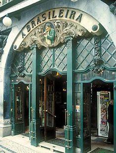 Cafe a Brasileira in Lissabon - Autore: Johannes Beck