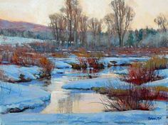 AFTERNOON GLOW - 18 x 24 by Robert Rohm Pastel ~ 18 x 24