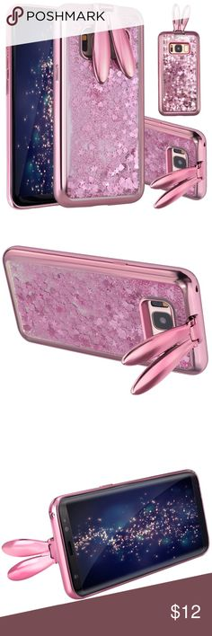 Samsung Bunny Glitter Case Brand new waterfall case   Available for:  Samsung S7 Edge, S8, S8 Plus and Note 8 Accessories Phone Cases