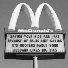 making their food a little less unhealthy would still help ... happy for McDonald's free for 40 months now!! :)