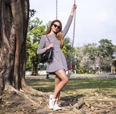 Sarah Lahbati Sarah Lahbati, Short Sleeve Dresses, Dresses With Sleeves, Filipina, Stripes, Asian, Pictures, Photos, Sleeve Dresses