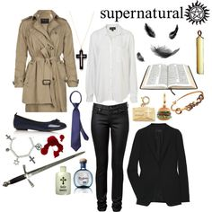 Or if you're feeling angelic, you could dress like Castiel...