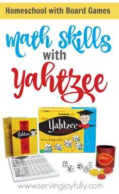 Yes, we use board games in our homeschool! Yahtzee is a great one for teaching and practicing lots of math skills! Here are a few tips for how one mom uses Yahtzee in her homeschool. Home Learning, Learning Games, Math Games, Homework Games, Math Board Games, Articulation Activities, Dice Games, Therapy Activities, Math For Kids