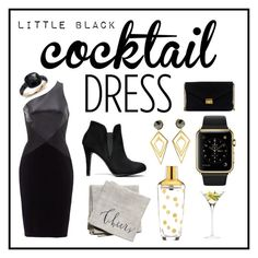 """""""Cocktail dress"""" by spinzterella on Polyvore featuring Theia, Linea Carta, Kate Spade, LSA International, Pomellato, Sarah Magid, J.Crew, cocktaildress and contestentry"""