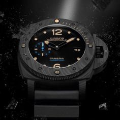 The Luminor Submersible 1950 Carbotech™ 3 Days Automatic – 47 mm PAM00616 is a perfect combination of remarkable innovation, with the Carbotech material of the case, and watchmaking craftmanship, faithfully inspired by the history of the brand.  Discover more on www.panerai.com #panerai #officinepanerai #carbotech #pam616