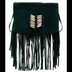 Raj black suede Maria fringe &beaded messenger bag Raj, anthropologie black fridge messenger bag. Brand new with tags Anthropologie Bags