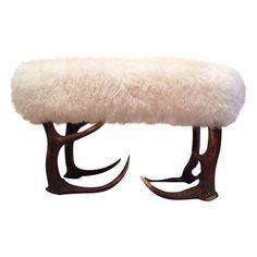 Image of Sheepskin Stool/Ottoman