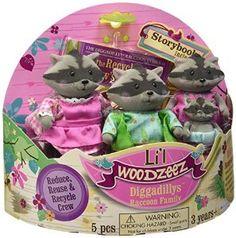 Amazon.com: Li'l Woodzeez Diggadillys Family 4-Piece Storytime Play Set with Storybook: Toys & Games