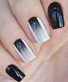 Fantastic Black and White Glazed Nail Art Designs for Parties.