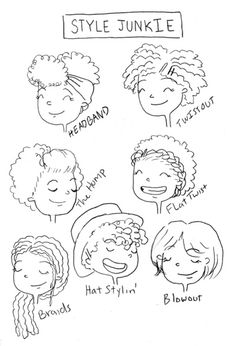 'Natural hairstyle junkie' by Sharee Miller.