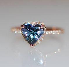 Anillo de compromiso Tanzanite 15 ct tanzanita anillo de