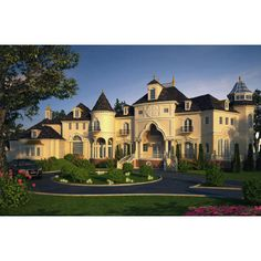 Luxury homes plans for Custom European traditional castles, manors,... found on Polyvore
