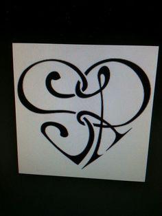 Cute tattoo idea s&r initial