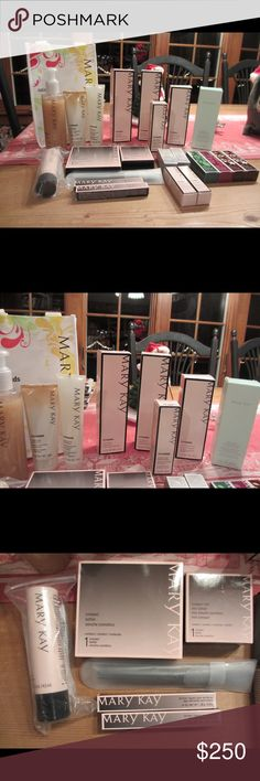 LOT OF MARY KAY PRODUCTS. BRAND NEW LOT of brand new Mary Kay products.  value is $356.00.  20 items  1 Satin Hands -- Vanilla Sugar 2 TW 3 in 1 Cleanser N/D 1 TW Luminous Foundation - Ivory 5 1 TW Even Complexion Mask 1 Mint Bliss Energizing Lotion Feet/Legs 1 Lash & Brow Buiding Serum 1 Large Compact 1 Mini Compact 1 Foundation Brush 2 Neutral Lip Liners 2 TW Even Complexion Dark Spot Reducer 4 Lip Balms - Vanilla Mint, Vanilla Berry & 2 Vanilla 2 Nail Lacquers - Berry & Gallery Gray…