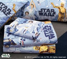 Inspire their far, far away dreams with brand new Star Wars™ sheets. #MyLittleJedi