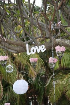 wedding tree decorations | Wedding Centrepieces, Accessories & Venue Decorating :: Hanginf Tree ...
