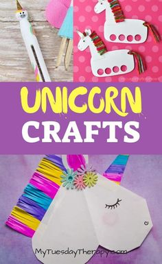 25 Easy Unicorn Crafts To Bring Magic To Your Child's Day Fun Unicorn Crafts for Your Little One. Make unicorn puppets and have a puppet show. Crafts for kids. Crafts for girls. Rainy Day Crafts, Rainy Day Activities, Party Activities, Crafts For Kids To Make, Crafts For Girls, Kids Crafts, Slimming World, Unicorn Crafts, Diy And Crafts Sewing