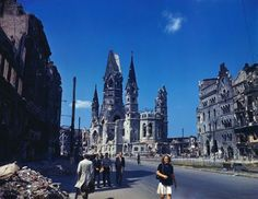 Photographs of a devastated post-war Berlin in...