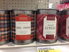 Candle packaging at Target