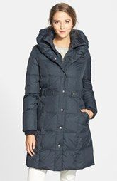 DKNY 'Faith' Front Insert Pillow Collar Quilted Coat (Online Only)