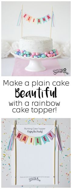 Easy Cake Decorating -  Bake your own cake or buy a simple cake from a bakery or a store.  You don't have to spend hours or a fortune for a pretty cake.  Order this beautiful topper!