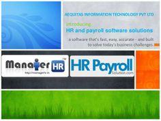 HRPayrollSolution.com by Aequitas Information Technology Pvt. Ltd. via slideshare