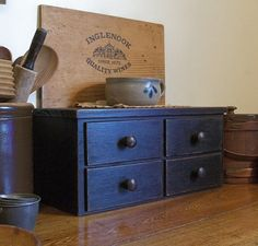 Primitive Toaster Cover 4 Drawer Apothecary Style by Sawdusty, $50.00