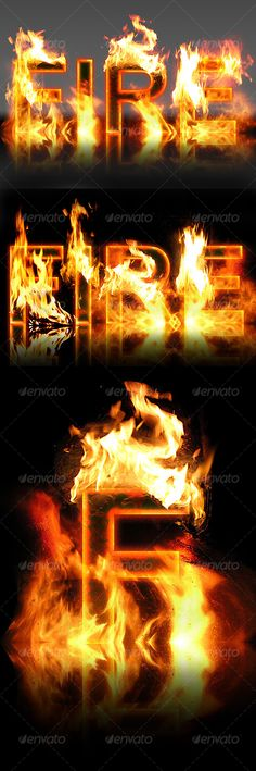 Real Fire Text Creator - #Miscellaneous #Graphics Download here: https://graphicriver.net/item/real-fire-text-creator/109754?ref=alena994