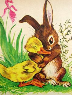 The Golden Egg Book - Little Golden Book -  Illustration by Lilian Obligado. Via Etsy.