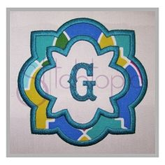 Quatrefoil Flower Applique Frame - 7 Sizes! | What's New | Machine Embroidery Designs | SWAKembroidery.com Stitchtopia