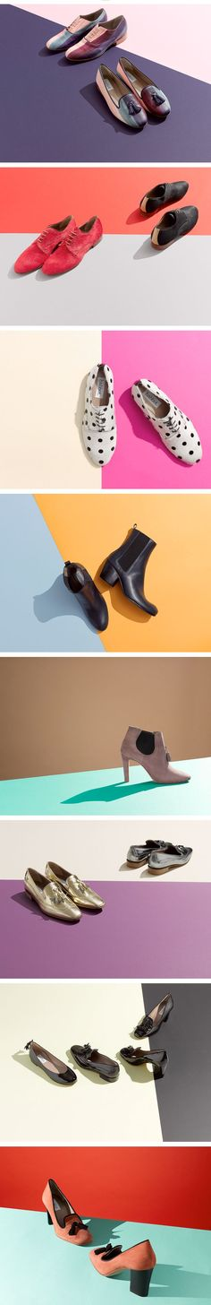 Cool graphic design idea..Shoes in pairs..Still Life photography...Product photos
