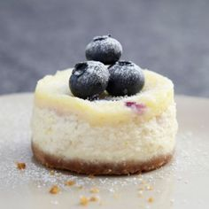 A Lakeland recipe for Mini Blueberry and Vanilla Cheesecakes, happy cooking!