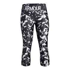 780c92238e801 Under Armour Girls'' HeatGear Armour Printed Capri Girls Capris, Under  Armour Girls,