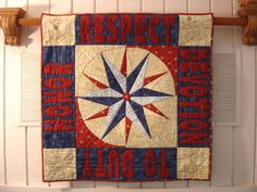 Coast Guard Quilt - Love this one!!  Nestlings By Robin Blog: Mariner's Compass