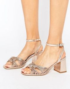 b304ac6b6ec ASOS HARIETTE Heeled Sandals Gold High Heel Sandals