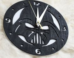 Tardis dr. Who wooden wall clock II by woodandroot on Etsy