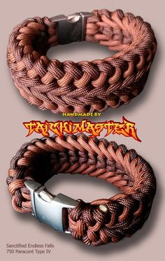 Two color Wide Scanctified Endless Falls Paracord Bracelet