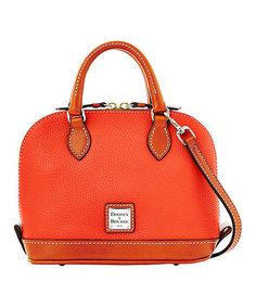 b51bbc9cab Dooney   Bourke Persimmon Bitsy Leather Satchel