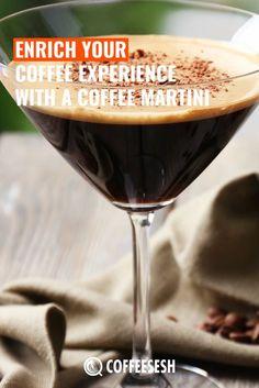 Enrich Your Coffee Experience With Coffee Martini Recipes) Coffee Martini Recipe, Espresso Martini, Martini Recipes, Italian Coffee, Irish Coffee, Best Coffee, Chocolate Shavings, Chocolate Syrup, Irish Cream Liquor