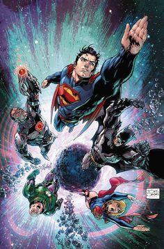 Superman, Supergirl, Batman, Cyborg, Lex