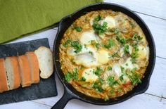 Moroccan Shakshouka Served with Bread